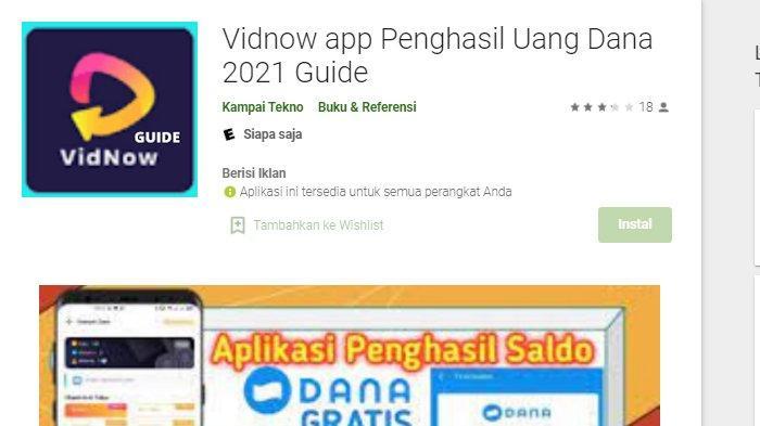 Cara Daftar Aplikasi VIDNOW dan Dapatkan Saldo Rp 20.000, Bisa Download Via Google Chrome