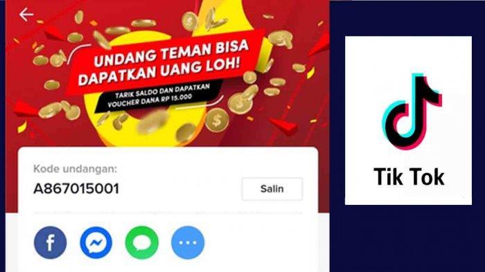 Cara Dapat Saldo Dana Rp 300 Ribu Di Tiktok Aplikasi Penghasil Uang Tribun Sumsel
