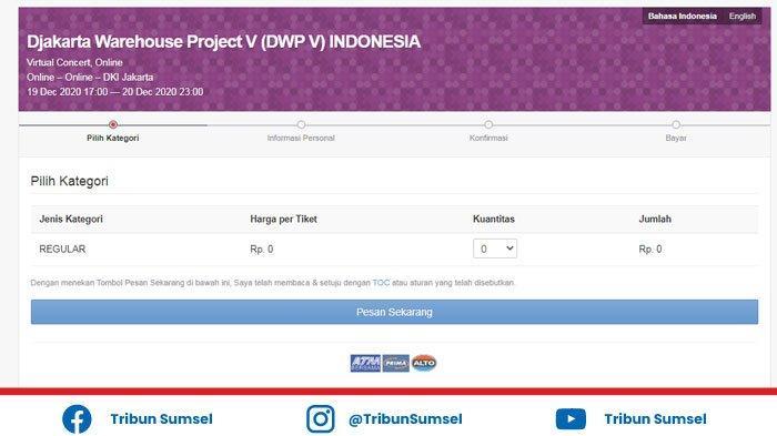 Cara Dapatkan V Pass Tiket Djakarta Warehouse Project Dwp Virtual 2020 Ini Line Up Pengisi Acara Halaman All Tribun Sumsel