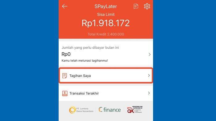 Cara Membayar Tagaihan Shopee PayLater