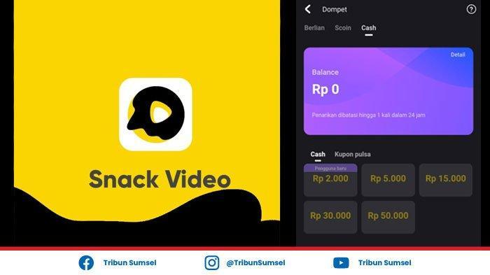 Cara Menarik Saldo Snack Video Ke OVO dan GoPay, Cairkan Uang Snack Video Mudah dan Simpel