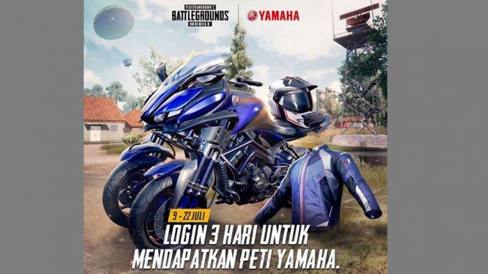 Cara Mendapatkan Helm dan Skin Yamaha di PUBG Mobile, Gratis Skin Motor MWT-9, Helm dan Jaket