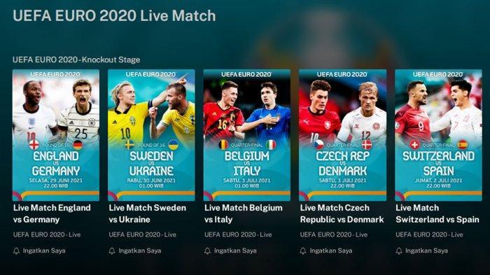 Cara Nonton Euro 2021 Live Streaming Pertandingan Malam Ini, Link RCTI, MNC TV, iNews dan Mola TV