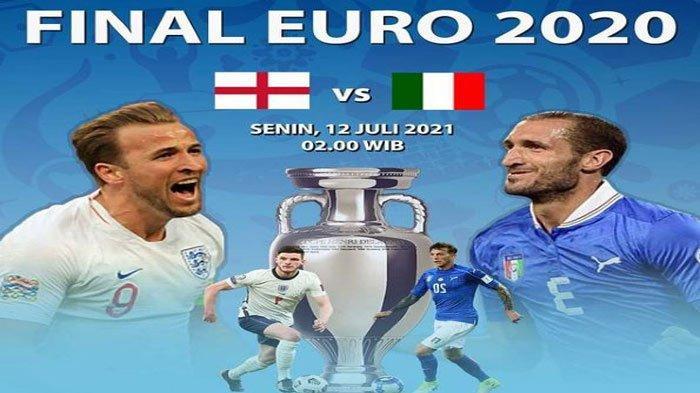Cara Nonton Final Euro 2020 di HP, Italia Vs Inggris, Live Streaming di RCTI dan Mola TV