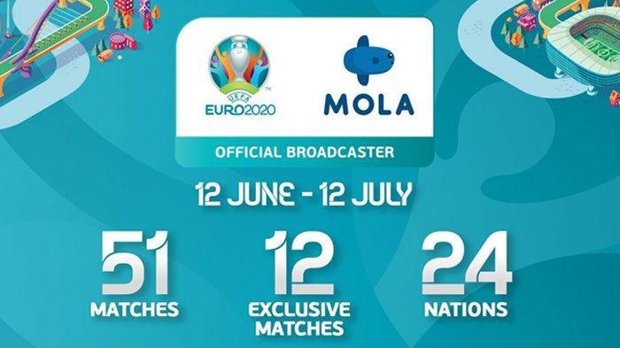 Cara Nonton Piala Euro 2020 di HP, PC, Laptop, dan Smart TV, Berlangganan Mola TV hanya Rp 25 Ribu