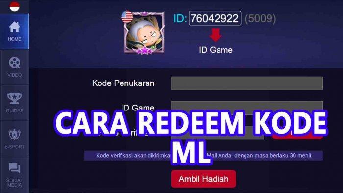 Link Streaming Mpl Season 6 Dan Cara Redeem Code Mobile Legend Ml Di M Mobilelegends Com Tribun Sumsel