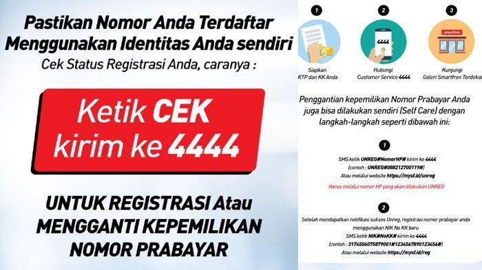 Cara Registrasi Kartu Perdana Tri 3 Telkomsel Smartfren Xl Dan Axis Berikut Caranya Tribun Sumsel