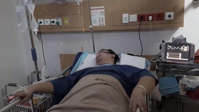 Chandra Liow yang terbaring lemah saat terinfeksi Covid-19
