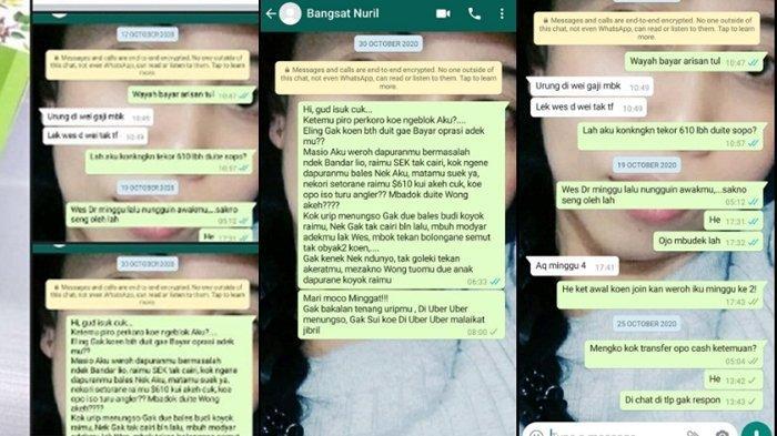 Chat penagih hutang dengan orang yang menghutang viral di sosmed