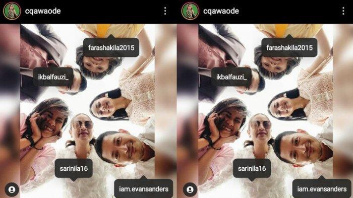 Chika Waode posting foto bareng pemain Ikatan Cinta tanpa tag Glenca Chysara
