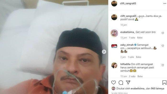 Lama Tak Terlihat, Clift Sangra Kini Terbaring di Ranjang RS, Mantan Suami Suzanna Positif Covid-19