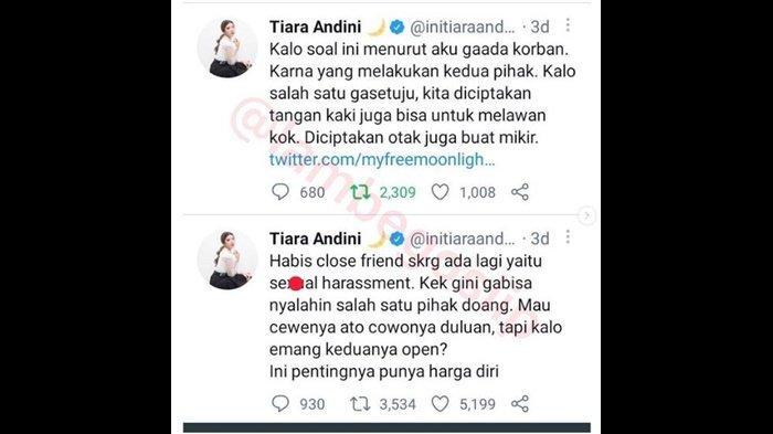 Langkah Tiara Andini Usai Namanya Jadi Trending Topic Twitter Soal Cuitan Korban Pelecehan Seksual