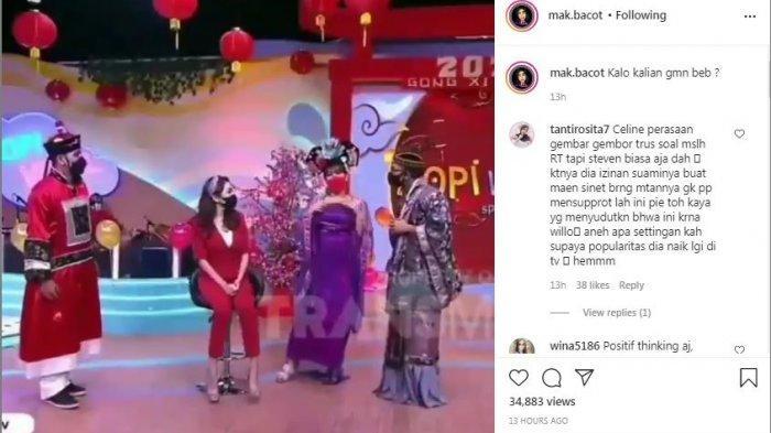 Cuplikan tayangan Celine Evangelista sindir hadiah Stefan William ke Natasha Wilona di Kopi Viral