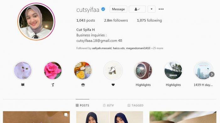 Cut Syifa ubah foto profil instagram dengan penampilan hijab