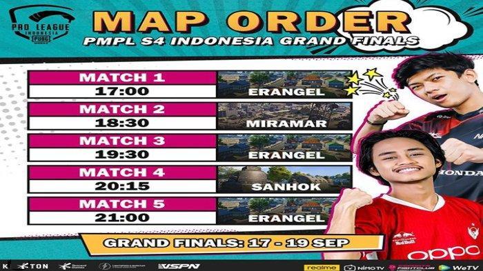 Jadwal dan Daftar 16 Tim Masuk Babak Grand Final PUBG PMPL Season 4, Ini Map Order-nya