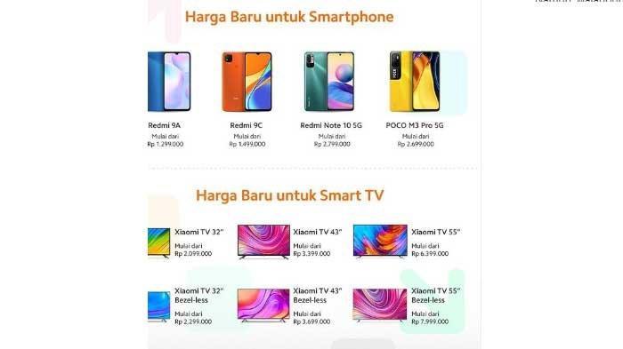 Daftar 4 Harga HP Xiaomi Naik Rp 100.000 Hari Ini dan 6 Smart TV Xiaomi Alami Turun Harga
