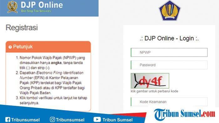 Cara Registrasi Djp Online Untuk Bayar Pajak Lengkap Urutan Tata Cara Membayarnya Tribun Sumsel