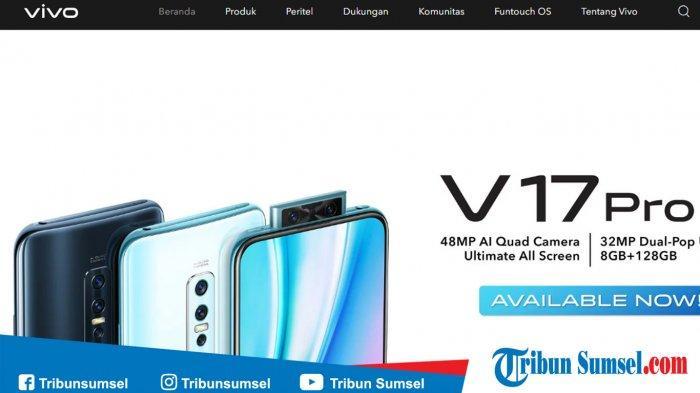 Daftar Harga Smartphone VIVO Terbaru 2020 dari Seri S, Y, V dan Z, Vivo V17 Pro Turun Harga