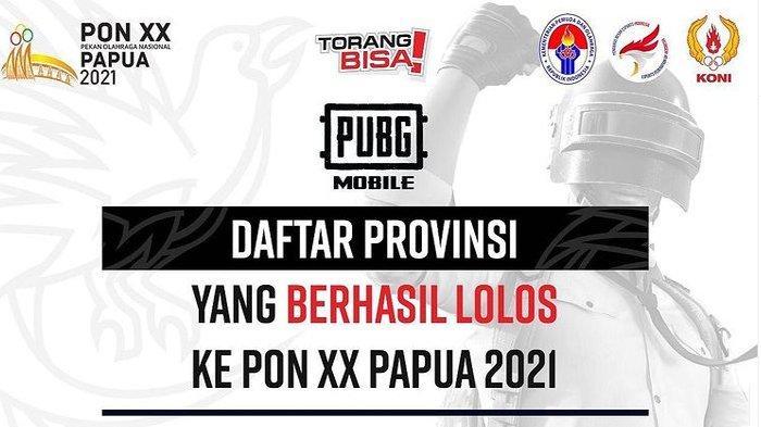 Daftar Lengkap 16 Tim Peserta Cabor Esport PUBG Mobile PON XX Papua 2021