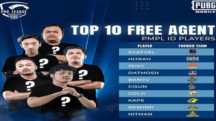Daftar Roster PUBG Mobile Berstatus Free Agent, Mulai dari Jeixy Hingga Hijrah