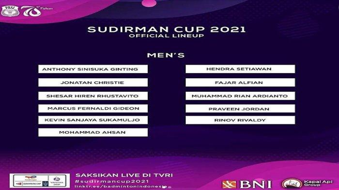Jadwal dan Daftar Nama Atlet Bulutangkis Indonesia di Piala Sudirman 2021, Beberapa Pemain Debutan