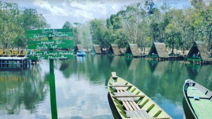 Ternyata di Lembak Muara Enim Ada Danau Cantik Shuji, Bekas Markas Tentara Jepang