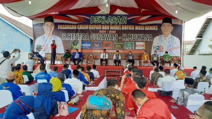 Hari Ini H2G-Mulya Daftarkan Diri sebagai Paslon di Pilkada Musi Rawas, 7 Parpol Lakukan Deklarasi