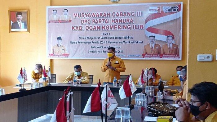 DPP Rekomendasikan Depit Pimpin Hanura OKI, Ini Pesan Ketua DPD Sumsel