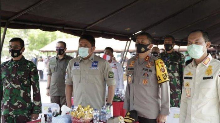 Gubernur Herman Deru Hadiri Pembagian 34 Juta Masker Serentak di Indonesia Secara Virtual
