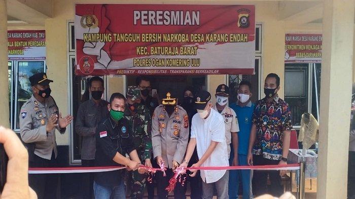 Desa Karang Endah Resmi Jadi Kampung Tangguh Bersih Narkoba, Ini Harapan AKBP Arif Hidayat