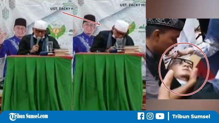 Video Detik-detik Ustaz Zacky Mirza Pingsan saat Ceramah, Sempat Ucap Kalimat La ilaha illallah