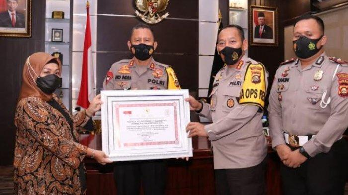 Warung SIM Drive Thru Mang PDK Polrestabes Palembang Diganjar Penghargaan dari Kemenpan RB