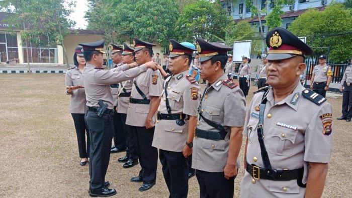 Isi Jabatan Strategis Enam Perwira di Polres Muaraenim Dilantik