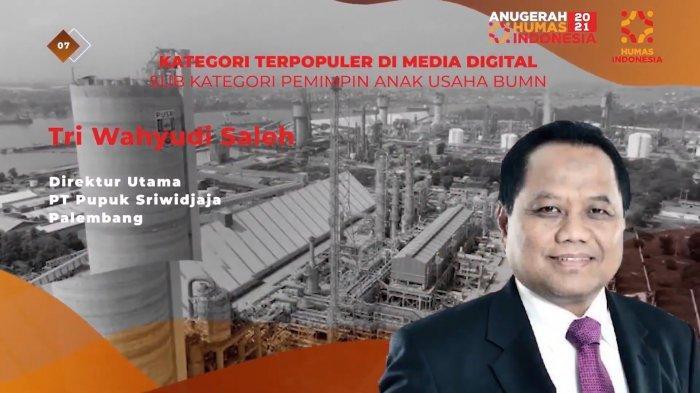 Pusri Borong Penghargaan : CEO Terpopuler di Media Digital dan ISDA Award 2021