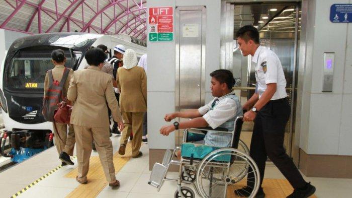 PT KAI Sosialisasi LRT Sumsel Ramah Penyandang Disabilitas