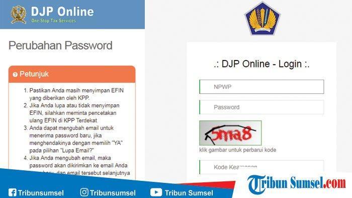 Cara Registrasi Akun Baru Wajib Pajak Wp Untuk Login Djp Online Wajib Punya E Fin Tribun Sumsel