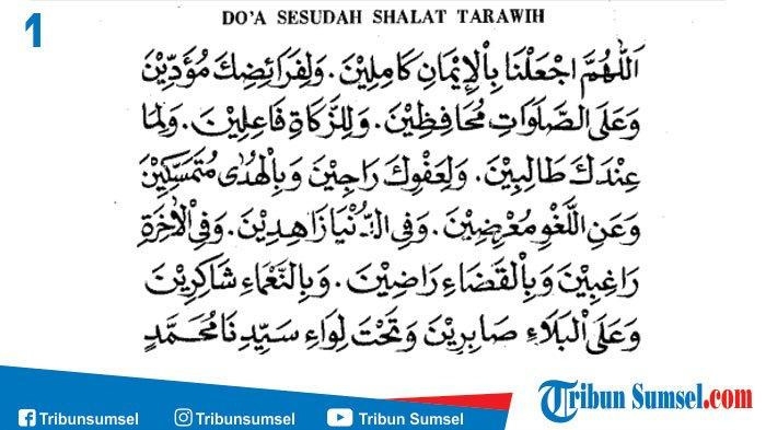 Doa Setelah Tarawih
