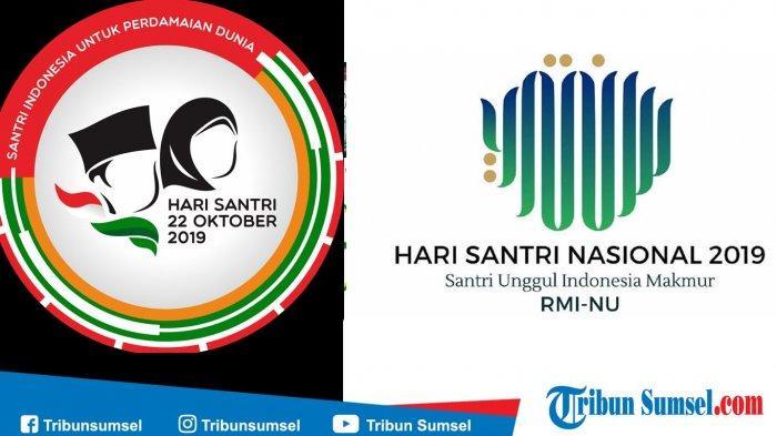 Bahasa Inggris Hari Santri Nasional Tema Dan Logo Resmi Hari Santri Nasional 2019 Download Di Sini Versi Kemenag Dan Nu Png Jpg Tribun Sumsel