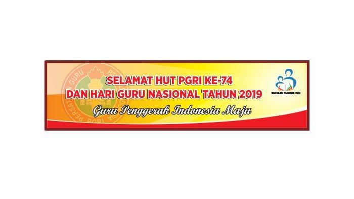 Download Logo Dan Tema Peringatan Hari Guru Nasional 25 November 2019 Tribun Sumsel