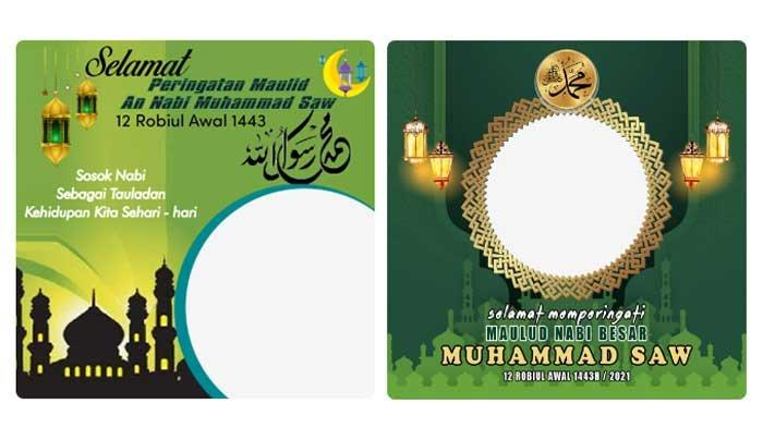 Download Twibbon Maulid Nabi 12 Rabiul Awal 1443 Hijriah atau 19 Oktober 2021, 10 Pilihan Model