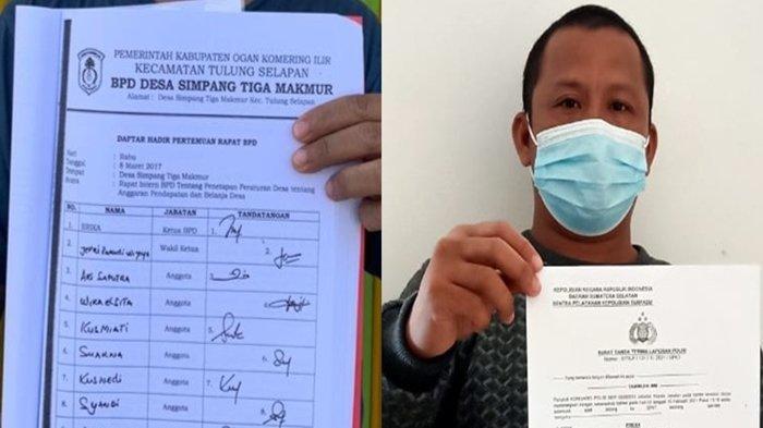 Kades Simpang Tiga Makmur OKI Dilaporkan ke Polda Sumsel, Syamsul Bahri : Ya Silahkan, itu Sah saja