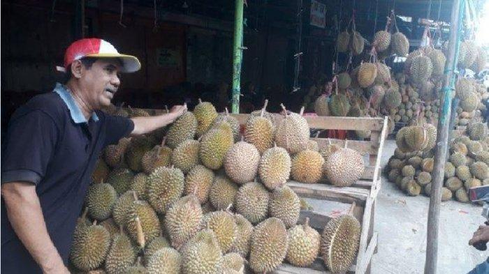 Mengunjungi Pusat Pedagang Durian di Pasar Kuto Palembang,Buka 24 Jam Tersedia Banyak Pilihan