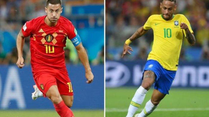 Prediksi Brasil vs Belgia Piala Dunia 2018: Final Kepagian di Perempat Final