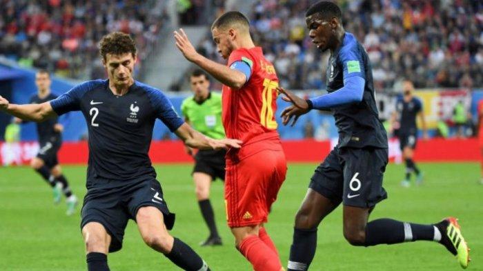 Hasil Babak I Prancis Vs Belgia di Piala Dunia 2018 Rusia - Saling Serang, Skor Masih Imbang