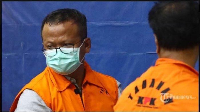 Mantan Menteri Kelautan dan Perikanan Edhy Prabowo saat ini ditetapkan tersangka kasus suap izin ekspor benih bening lobster.