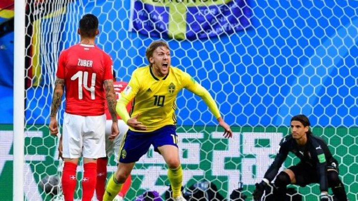 Swedia Lolos ke Perempat Final Piala Dunia 2018 Usai Kalahkan Swiss dengan Skor Tipis
