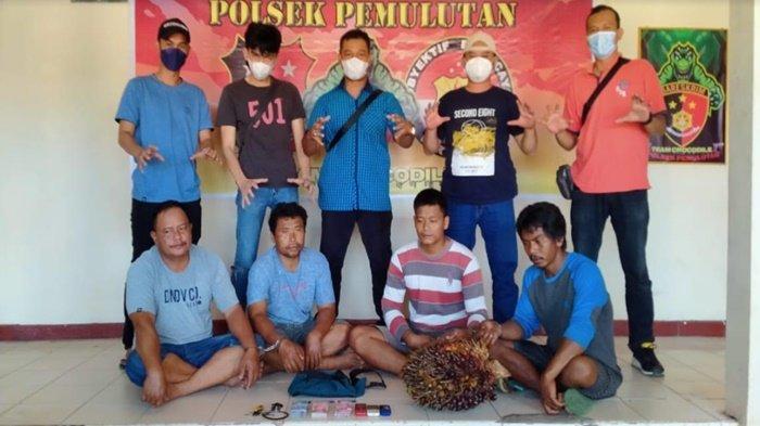 Empat Kawanan Pencuri Sawit di Pemulutan Dibekuk Polisi, Satu Tersangka  Anak Buah Bos Sawit