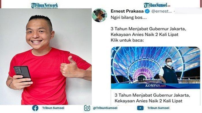 Ernest Prakasa Sindir Kekayaan Anies Baswedan yang Meningkat Dua Kali Lipat 'Ngiri Bilang Bos'