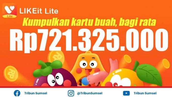 Kode Buah Likeit Lite Event Kartu Ekstra Buah Apel, Mangga, Pepaya, Salak, Duku, Manggis, Rambutan