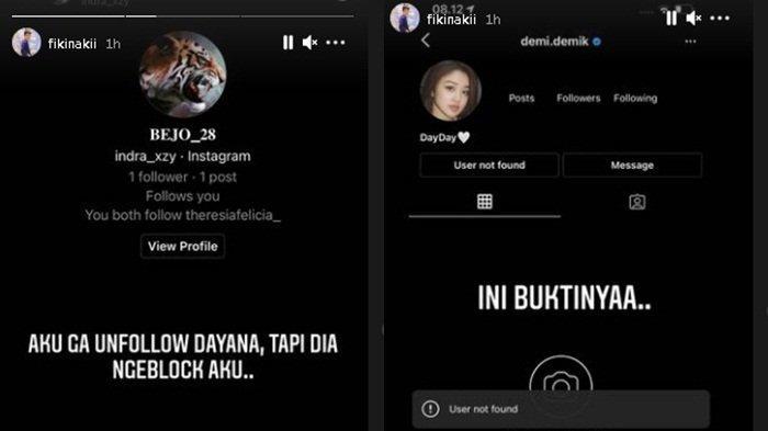 Dayana block Instagram Fiki Naki